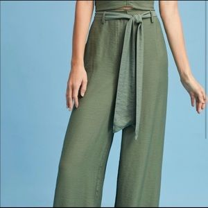 New MAEVE Claire High-Waisted Wide Leg Pants